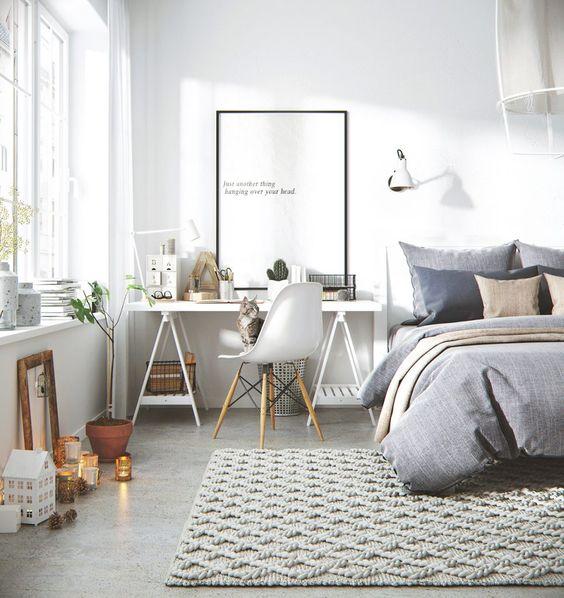 sypialnia w stylu skandynawskim 1