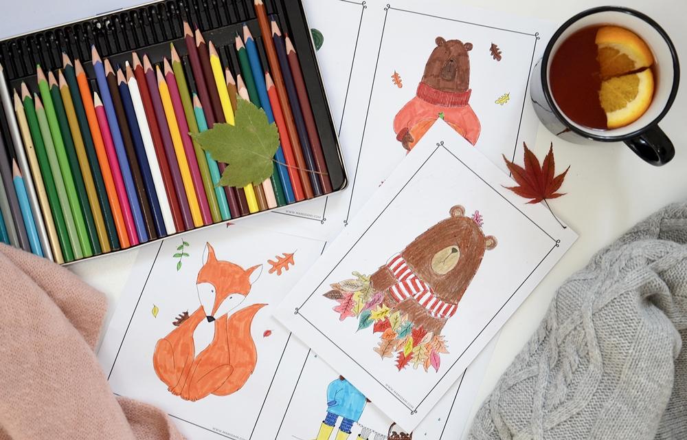 Kolorowanki do druku jesień 1